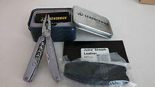 NEW Leatherman Original Juice CS4 Gray Multi-Tool Leather Sheath Gift Tin