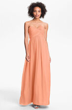 Donna Morgan 'Laura' Ruched Sweetheart Silk Chiffon Gown (Size 18W)