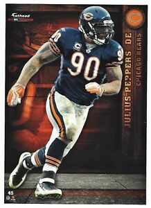 JULIUS PEPPERS CHICAGO BEARS PANTHERS NCU TARHEELS FATHEAD TRADEABLES 2012 #45