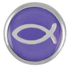 Ginger Snaps™ Purple Jesus Fish Sn03-11 Buy 4 Get 5Th $6.95 Snap Free