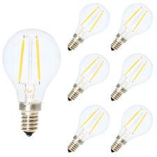 6 Pack E14 Nicht Dimmbar LED Filament Tropfen Glühbirne 2W 2700K Warmweiß