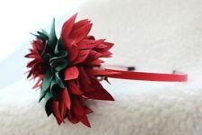 Nordstrom TASHA Thick Red Flower Green Leaf Wild Fabric Busy Headband Modern $39