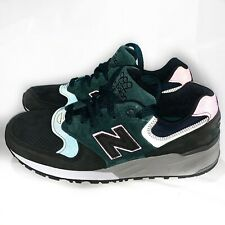 New Balance M999JTB Made In USA Shoes Charcoal Black/Green/Pink SZ 7 Women's 8.5