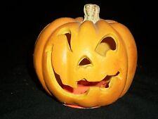 """Halloween 5"""" Pumpkin Indoor Decor Haunted Spooky Prop Jack O' Lantern Light"""