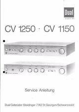 Dual Service Manual für CV 1150 / 1250