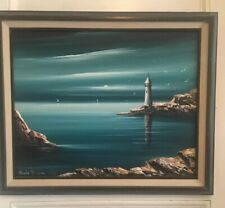 Oil Painting Lighthouse Waterloo by Canadian Artist Claude BLEAU 1972 (b. 1929)