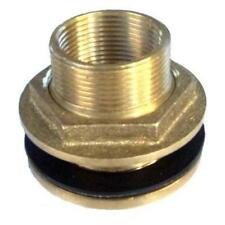 """BRASS TANK FITTING 2""""MI × 1½""""FI THREADED OUTLET/INLET WATERMARKED W2503 TFB5040"""