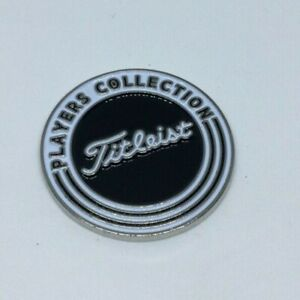 TITLEIST COLLECTION New GOLF BALL MARKER Black / White Flat Coin NEW