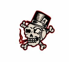 Artist Reed Skull Ace Top Hat Embroidered Iron On Badge Applique Patch FD 2759