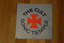 "The Cult Sonic Temple Rare 1989 Record Store Promo Album Flat Art Poster 12.5"""