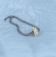 New Trollbeads Conch Bead Original & Authentic & Retired 925SLAA #61415 - Nice!