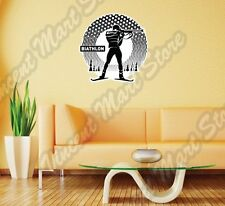Biathlon Cross-Country Ski Race Rifle Sport Wall Sticker Room Interior Decor 22""