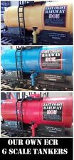 3 YES THREE G SCALE 45mm OIL TANKERS IN RED COLOUR TANK ROLLING STOCK TRAIN