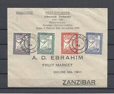 ZANZIBAR 1944 SG 327/30 USED FDC Cat £10.50
