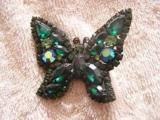 Beautiful Green  Rhinestone Weiss Pin Butterfly