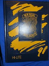 1991 NEW RIEGEL OH HIGH SCHOOL YEARBOOK Annual HI-LITE Blue Jackets