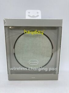 Heyday Qi Enabled Wireless Charging Pad w/ 6ft USB-C Cable & Wall Charger