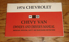 Original 1974 Chevrolet Chevy Van Owners Operators Manual 74