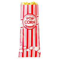 "100 Popcorn Bags 1 oz Carnival King 3.5"" x 2.25"" x 8.25""  Free Shipping USA Only"