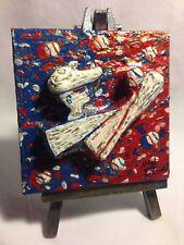 "USA Sports Miniature Art Series ""Baseball"" by MAWinfinityArt.Handmade In America"