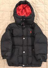 Polo Ralph Lauren Black Toddler  Puffer Jacket with Hood - 3T