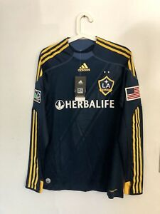2009-10 LA GALAXY AWAY LS FORMOTION PLAYER ISSUE SHIRT SIZE S NEW WITH TAGS!