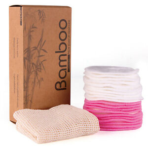 Makeup Remover Pad Face Cleansing Wipes Bamboo Zero Waste Bamboo Cotton Cotton