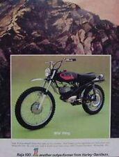 HARLEY-DAVIDSON BAJA 100 Original Color Motorcycle Ad 1972