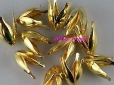 Wholesale DIY 150pcs golden plated flower bead caps 13mm jewelry accessory