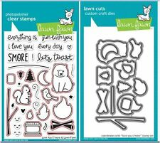 Lawn Fawn Photopolymer Clear Stamps -34 ct, + DIES- LOVE YOU S'MORE ~LF671,LF672