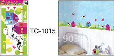Corral Vaca Oveja Pollo Mural Para Niños Infantiles decoración pegatinas de pared ld897