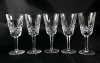 5 stunning vintage Lead Crystal liqueur spirit shot glasses