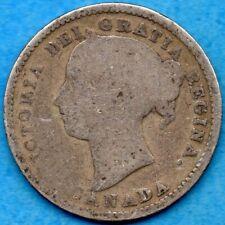 Canada 1894 10 Cents Ten Cent Silver Coin - Circulated