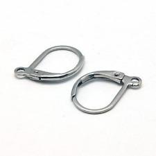 100 Leverback Ear Wires Silver Stainless Steel Earring Findings Lever Earrings