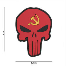Patch 3D PVC Punisher Russia hammer and sickle  AIRSOFT SOFTAIR