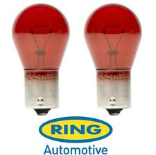 R782 2 x PR21W 12v Brake Stop Light Bulbs Pair Red 782 BAW15s Ring Ford Saab