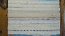 """Vintage Antique NARROW LACE LOT, Trim, 10 Different Patterns, 3/8"""", 5/8"""",3/4"""""""