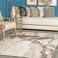 nuLOOM Contemporary Addilyn Abstract Mural Area Rug in Gray