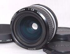 [Near MINT] Nikon Ai Nikkor 28mm f2.8 Wide Lens w/Hood[HN-2] from JAPAN