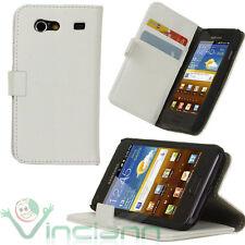 Custodia BIANCA in pelle per Samsung i9070 Galaxy S ADVANCE con funzione stand