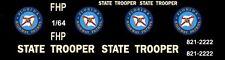 FLORIDA HIGHWAY PATROL Police 1/64th HO Scale Slot Car Waterslide Decals