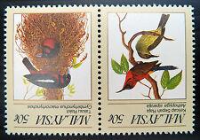 MALAYSIA 1988 Birds 50c Se-tenant Pair INV/WMK SG396wa U/M SALE PRICE JK 53