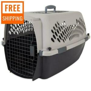 """26"""" Kennel Pet Crate Dog Cat Travel Carrier Plastic Portable Dogs Cage"""