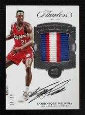2016-17 Flawless Distinguished Signatures 18/25 Dominique Wilkins Patch Auto HOF