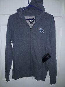 Tennessee Titans football Hooded Sweatshirt Jacket NFL apparel shirt Ladies L