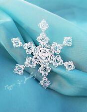 Snowflake Hair Accessories, Swarovski crystals, bridal hair pin comb, christmas