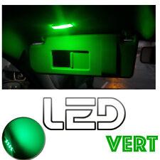 Volkswagen GOLF 6 VI- 2 Ampoules LED VERT Green  Miroirs courtoisie Pare soleil