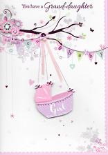 Isabels Garden, un bambino nipote Card, 3d, fatte a mano rosa. alta qualità (n2)
