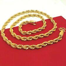18K Gold Filled Ladies Mens Classic Solid Curb Chain Necklace