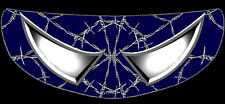 SKULLSKINS MOTORCYCLE HELMET VISOR SHIELD STICKER - WIRED WEB BLUE